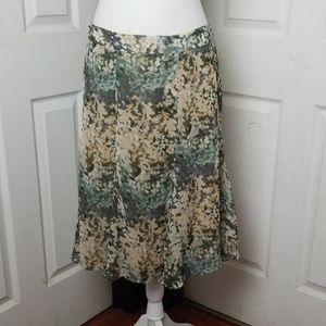 A-line Watercolor Skirt